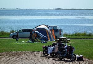 尾岱沼ふれあいキャンプ場のバイク