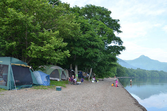 和琴半島湖畔キャンプ場のサイト状態 その2