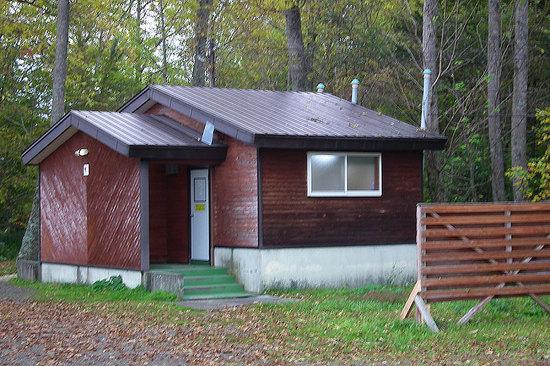 和琴半島湖畔キャンプ場のトイレ