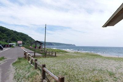 道営野塚野営場 砂浜