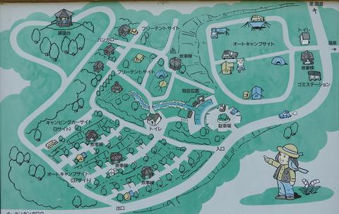 二風谷ファミリーランドオートキャンプ場 サイトの案内図