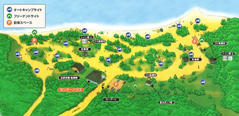 美笛キャンプ場の案内図