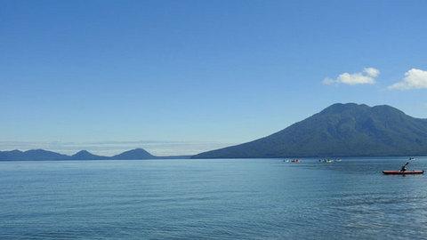 美笛キャンプ場から見える支笏湖