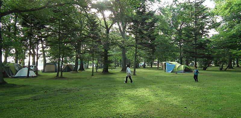 女満別湖畔公園キャンプ場