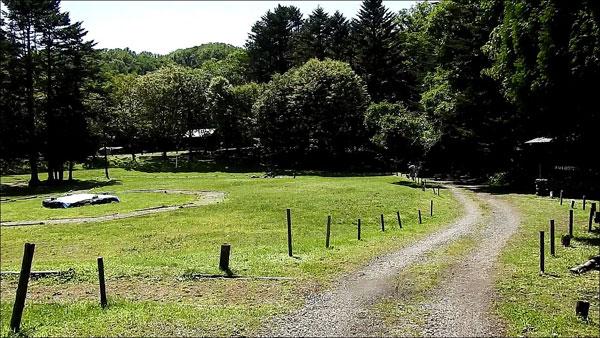 ポロトの森キャンプ場のキャンプサイト