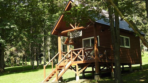 ポロトの森キャンプ場のバンガロー