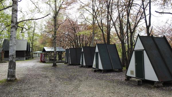 ひがしかぐら森林公園キャンプ場 2人用バンガロー