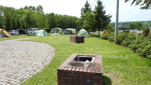 ナウマン公園キャンプ場の野外炉