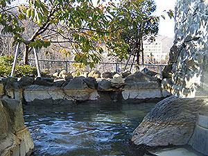 定山渓温泉 ホテル山水の露天風呂