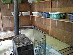 三香温泉 露天風呂の脱衣所