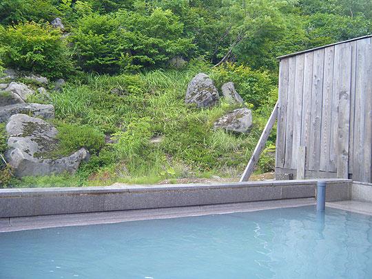五色温泉 からまつの湯 露天風呂