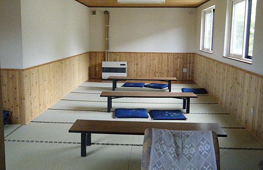 五色温泉の休憩室