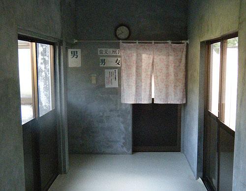 景福 露天風呂への出入り口