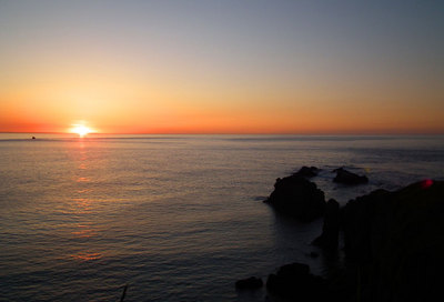 霧多布岬の日の出