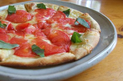 2009-07-07-美瑛 バーチのトマトピザ