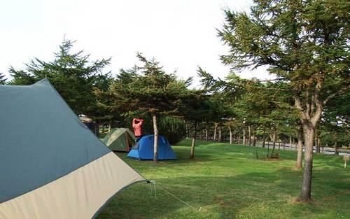 2015-09-21-稚内森林公園キャンプ場でテント