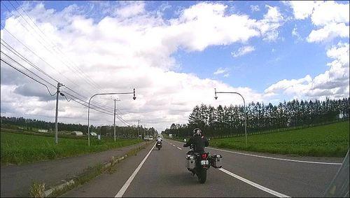 2016-09-11-士幌町の直線道路