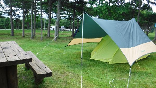 2017-07-17-稚内森林公園 テント設営完了