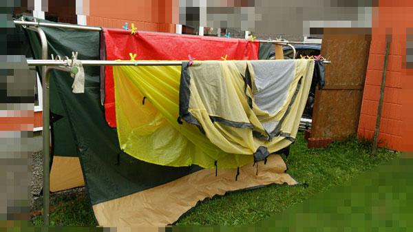 2017-08-14-帰宅後のテント干し