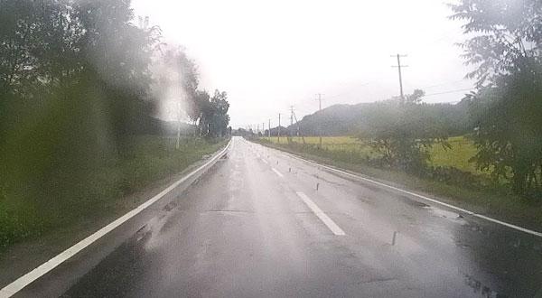 2017-09-10-雨の中足寄へ向けて走行中