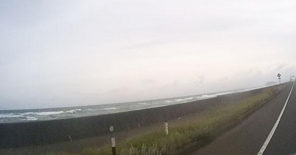 2017-09-17-幌別町あたりの荒れた海