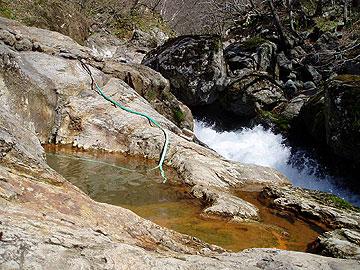 平田内温泉熊の湯 平田内川の渓流