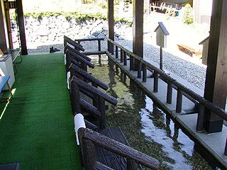 鹿部間歇泉公園の足湯