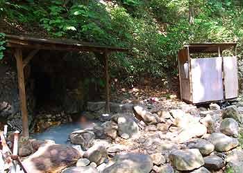 朝日温泉の露天風呂