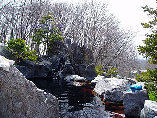 竹山高原温泉の露天風呂