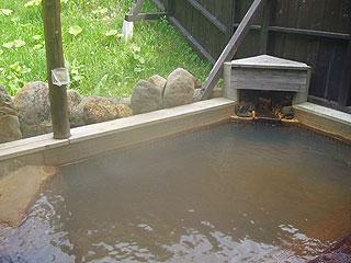 バーデンかみふらのの露天風呂