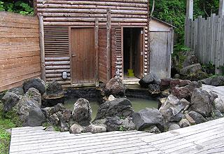 湯元白金温泉ホテルの混浴露天風呂の全体観