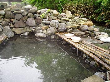 からまつの湯の露天風呂