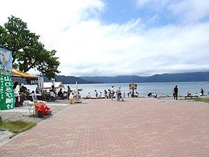 砂湯前の広場