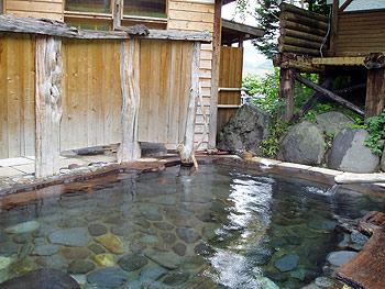 中村屋露天風呂の脱衣所