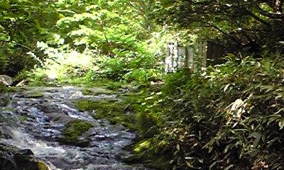 川又温泉と脱衣所