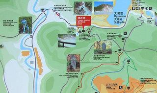 足湯周辺の案内マップ